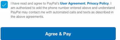 PayPal payment example picture